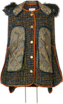 Peter Pilotto tweed shearling jacket