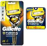Gillette Fusion Proshield Flex ball handle with 8 count blade refills