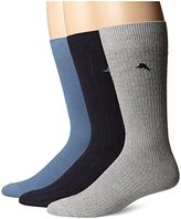 Tommy Bahama Men's 3 Pack Assorted Texture Casual Crew Sock