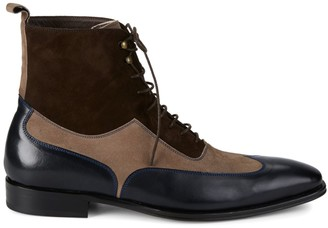 Mezlan 18769 Leather & Suede Wingtip Boots