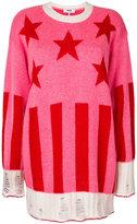 MSGM ribbed knit star pullover