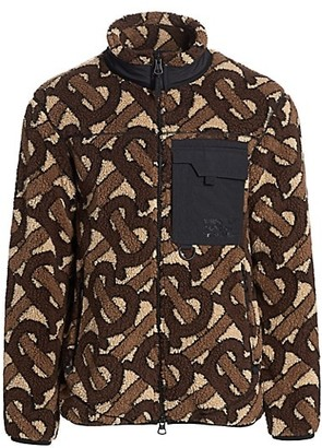 Burberry Southmead Logo Wool-Blend Fleece Jacket