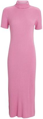 STAUD Lilou Turtleneck Rib Knit Dress