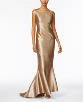 B Michael Off-The-Shoulder Mermaid Gown