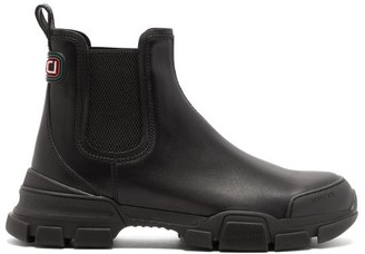 Gucci Leon Exaggerated-sole Leather Chelsea Boots - Mens - Black