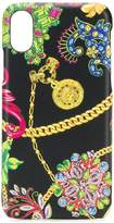 Versace floral chain iPhone X case