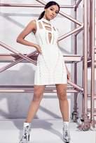 boohoo Premium Petite Ava Hardware Detail Bandage Bodycon Dress