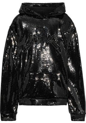 Dundas Bead-embellished Sequined French Cotton-terry Hoodie