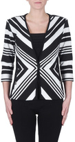 Joseph Ribkoff Diagonal Striped Blazer