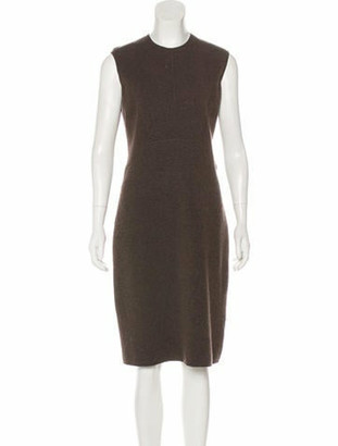 Oscar de la Renta Cashmere Midi Dress Brown