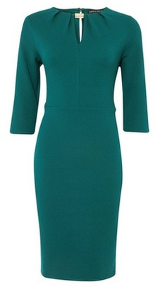 Dorothy Perkins Womens *Green Pleat Hardware Bodycon Dress, Green