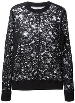 Givenchy floral lace sweater - women - Silk/Cotton/Polyamide/Spandex/Elastane - 36