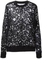 Givenchy floral lace sweater - women - Silk/Cotton/Polyamide/Spandex/Elastane - 36