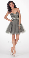 Silver Tulle Dress by Alyce Paris