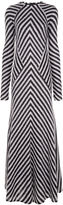 Haider Ackermann Monochrome Mohair Chevron Stripe Dress