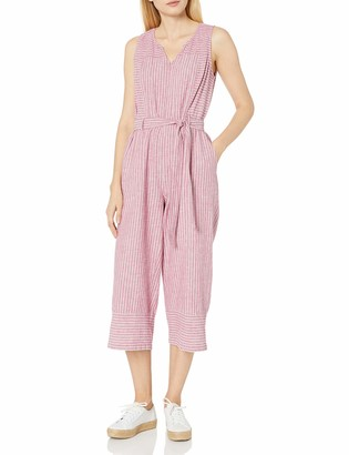 Vince Camuto Women's Sleeveless Stripe Belted Jumpsuit