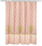 Nobrand No Brand Rajasthan Shower Curtain - Dk. Coral (Print) - Allure