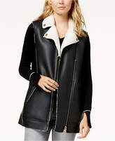 Armani Exchange Faux-Leather Vest