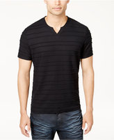 INC International Concepts Men's Split-Neck Textured T-Shirt, Created for Macy's