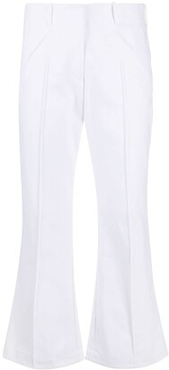 Jejia Cropped Flared Leg Trousers