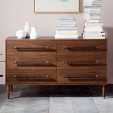 west elm Benson 6-Drawer Dresser - Dark Walnut
