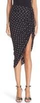 Veronica Beard Women's 'Ari' Ruched Drawstring Print Silk Skirt