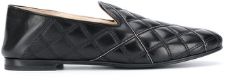 Fabiana Filippi Quilted Bead Embellished Loafers