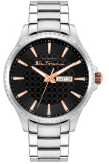 Ben Sherman Men's Classic Silver-Tone Stainless Steel Watch, 43mm