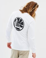 Mitchell & Ness Mono Logo LS Tee - Golden State Warriors