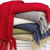 Martha Stewart Textured Yarn Throw Blanket Ivory W074