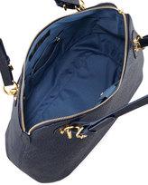 Eric Javits Zimba Woven Zip Shoulder Bag, Navy