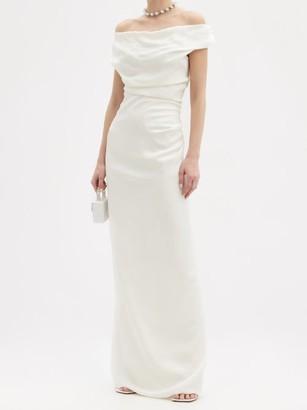 Vivienne Westwood - Ginnie Draped Off-the-shoulder Satin Dress - White
