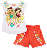 Children's Apparel Network White Barbie 'Love Every Day' Tee & Shorts - Toddler & Girls