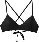 RVCA Women's Solid Cross-Back Swimsuit Bikini Top