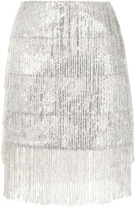 macgraw Thistle fringed sequined skirt