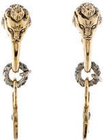 Roberto Cavalli Lion & Star Crystal Earrings