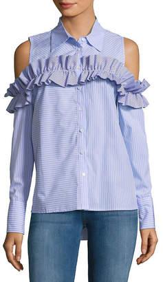 Few Moda Ruffle Cold-Shoulder Shirt