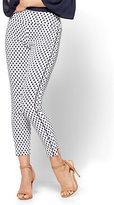 New York & Co. 7th Avenue Pant - High-Waist Pull-On Ankle Legging - Polka Dot - Petite