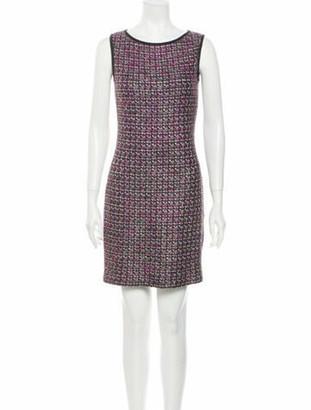 St. John Tweed Pattern Mini Dress Pink