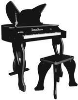 Schoenhut 37-Key Electronic Butterfly Piano & Bench, Black
