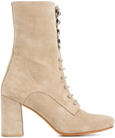 Maryam Nassir Zadeh chunky heel boots - women - Suede/Leather - 38.5