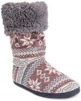Muk Luks Gloria Faux Fur Lined Slipper Boot