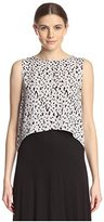 Michael Stars Women's Curved Hem Shell Top