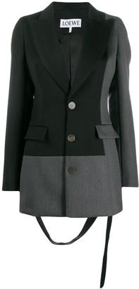 Loewe two-tone patchwork blazer