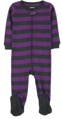 Leveret Purple and Grey Footed Sleeper Pajama