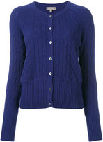N.Peal cashmere cropped cable cardigan