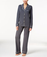 Cosabella Bella Satin-Trim Long-Sleeve Pajama Set AMORE9641