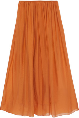 Forte Forte Gathered Silk-voile Maxi Skirt