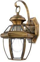 Quoizel Newbury Small 1-Light Outdoor Wall Fixture in Antique Brass