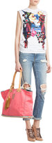 DSQUARED2 Cotton Tote with Leather